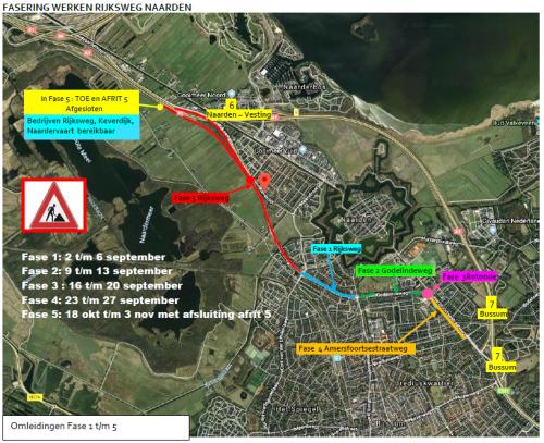 Nationaal Huidcentrum   Let op: verkeershinder hoofdroute Naarden in september en oktober