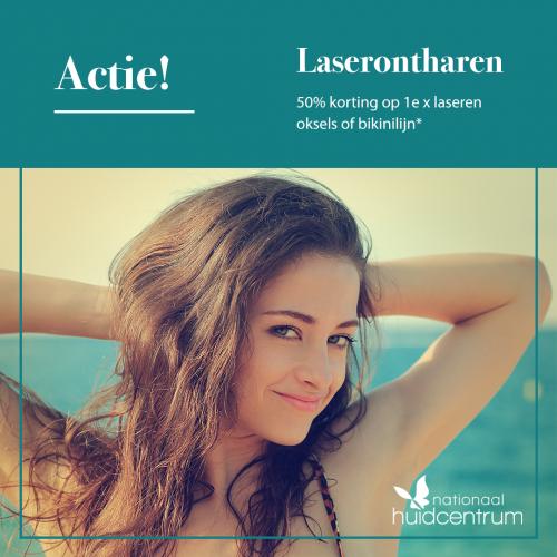 Nationaal Huidcentrum | 50% korting op de laserbehandeling oksels of bikinilijn
