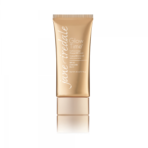 Tube met Glow Time Full Coverage Mineral BB Cream, een dekkende, vloeibare minerale foundation.