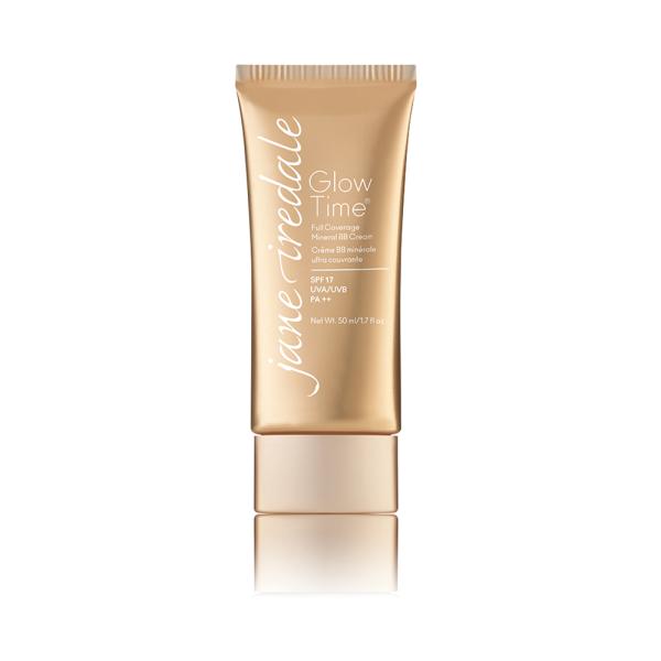 Tube met Glow Time Full Coverage Mineral BB Cream, een dekkende, vloeibare minerale foundation.