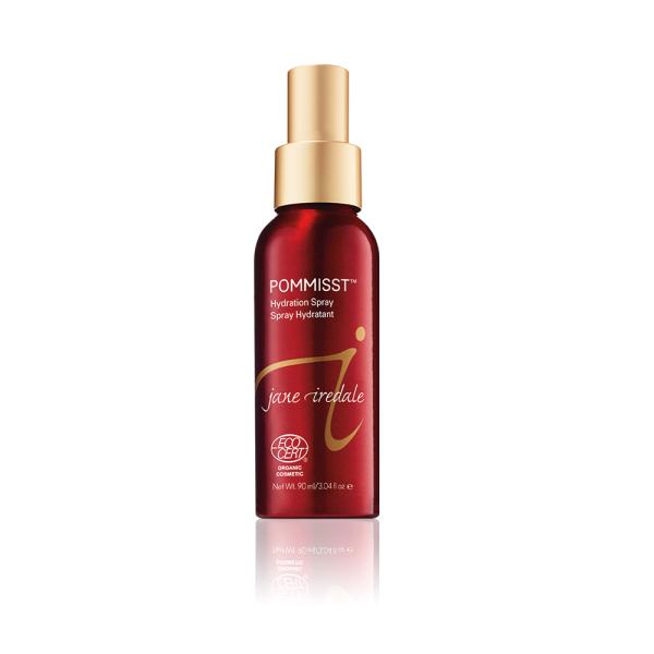 Fles met Pommisst Hydration Spray, een spray voor de droge, normale of pigmentgevoelige huid.