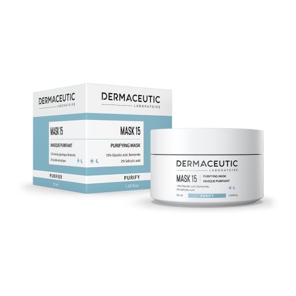 Verpakking en pot Dermaceutic Mask 15