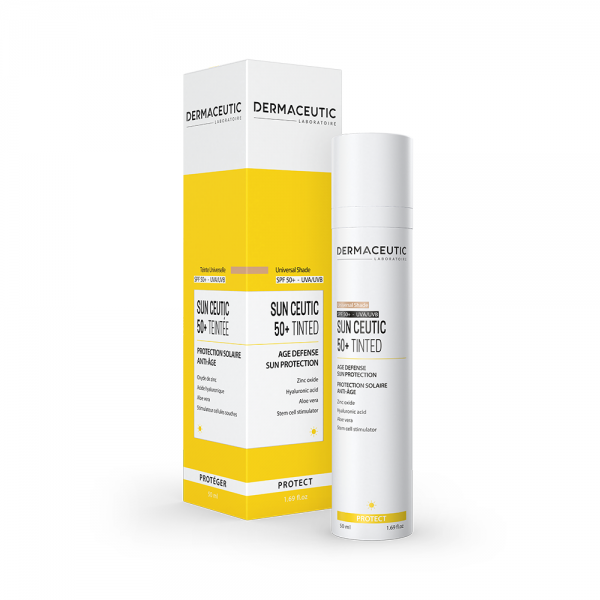 Verpakking en flesje Dermaceutic Sun Ceutic Tinted