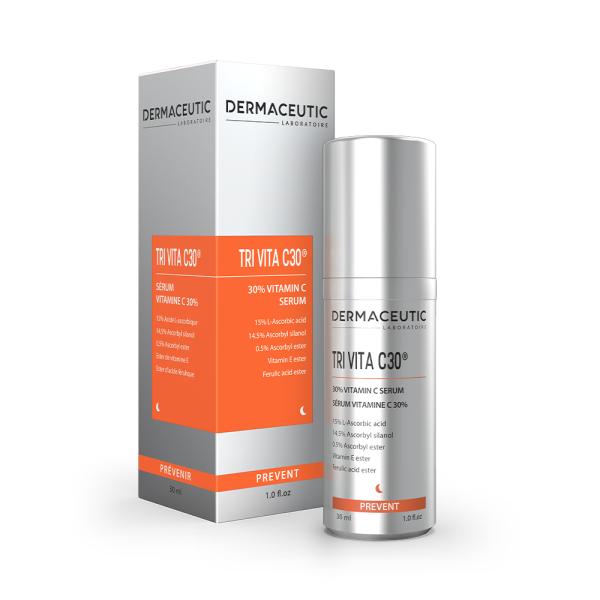 Verpakking en flesje Dermaceutic Tri Vita C30